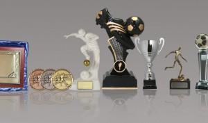 Muestra de trofeos de furtbol